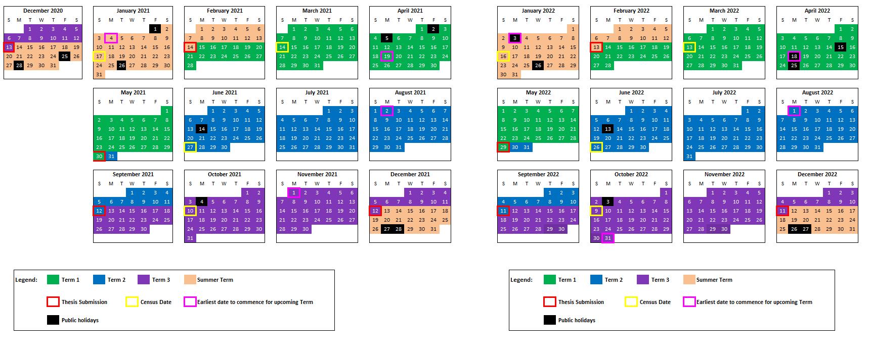 U Of U Academic Calendar 2022.Hdr Academic Calendar Unsw Research